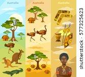australia travel banner.... | Shutterstock .eps vector #577325623