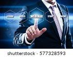 webinar e learning training... | Shutterstock . vector #577328593