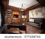 home office interior design in... | Shutterstock . vector #577328743