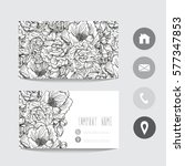 business card template  design... | Shutterstock .eps vector #577347853