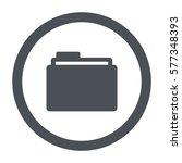 folder icon  flat design style | Shutterstock .eps vector #577348393