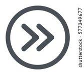 arrow icon  flat design style | Shutterstock .eps vector #577349677