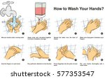 how to wash   clean your hand... | Shutterstock .eps vector #577353547