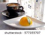 Half Circular Orange Cake With...