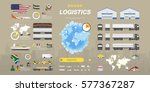 set of flat vector... | Shutterstock .eps vector #577367287