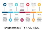 vector arrows timeline... | Shutterstock .eps vector #577377523