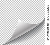 paper page curl and shadow ... | Shutterstock .eps vector #577382233