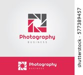 photography logo with square... | Shutterstock .eps vector #577389457