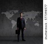 businessman standing  with... | Shutterstock . vector #577398577