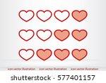 heart background. | Shutterstock .eps vector #577401157