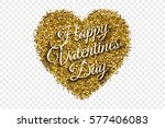 happy valentine's day... | Shutterstock .eps vector #577406083
