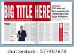 newspaper template | Shutterstock .eps vector #577407673