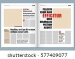 modern newspaper template | Shutterstock vector #577409077