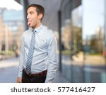 funny young businessman mocking | Shutterstock . vector #577416427