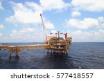 offshore construction platform... | Shutterstock . vector #577418557