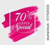 sale special offer 70  off sign ... | Shutterstock .eps vector #577420333
