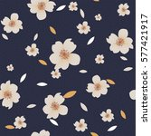Stock vector seamless vintage flower pattern 577421917