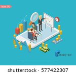 isometric group of business... | Shutterstock .eps vector #577422307