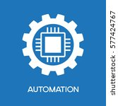automatic process icon. gear...