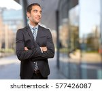 confident young man with a... | Shutterstock . vector #577426087