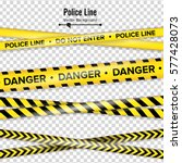 yellow with black police line.... | Shutterstock .eps vector #577428073