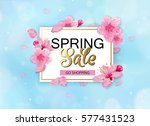 spring sale background with... | Shutterstock .eps vector #577431523