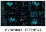 interface fx. fx magic....   Shutterstock .eps vector #577445413