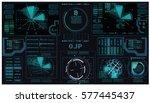 interface fx. fx magic....   Shutterstock .eps vector #577445437