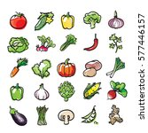 vector collection of vegetables | Shutterstock .eps vector #577446157