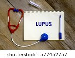 medical concept. top view of... | Shutterstock . vector #577452757