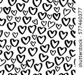 abstract seamless surface heart ... | Shutterstock .eps vector #577460377