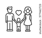 one child family   vector... | Shutterstock .eps vector #577462723