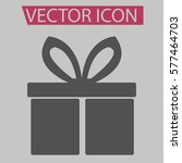 gift icon isolated sign symbol...