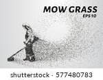 mowing the grass from the... | Shutterstock .eps vector #577480783
