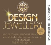 vector gold logo design... | Shutterstock .eps vector #577480843