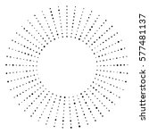 black and white dotted circular ... | Shutterstock .eps vector #577481137