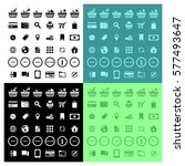 web shopping icons set | Shutterstock .eps vector #577493647