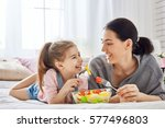 happy loving family. mother and ... | Shutterstock . vector #577496803