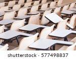 high school desk chairs in a... | Shutterstock . vector #577498837