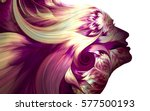 human profiles executed in...   Shutterstock . vector #577500193