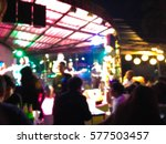 Blur Image Of Stage In Pub  ...