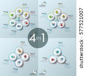 bundle of four infographic... | Shutterstock .eps vector #577521007