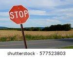 stop sign  landscape | Shutterstock . vector #577523803