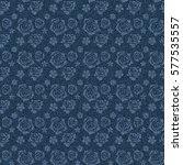 seamless denim jeans pattern... | Shutterstock . vector #577535557