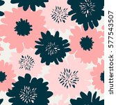 seamless repeating pattern with ... | Shutterstock .eps vector #577543507