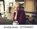 portrait of young teenage... | Shutterstock . vector #577544407