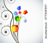 abstract floral background ... | Shutterstock . vector #577549597