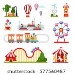 flat design vector icons set of ... | Shutterstock .eps vector #577560487
