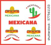 mexican food logo. mexican fast ... | Shutterstock . vector #577561153