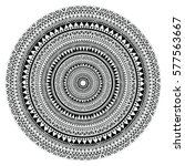 tribal folk aztec geometric... | Shutterstock .eps vector #577563667